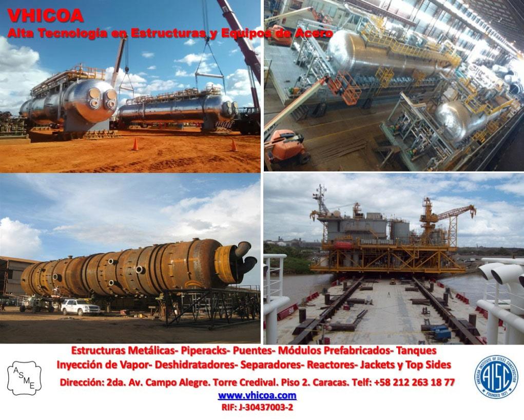 VHICOA. Alta tecnología en estructuras y equipos de acero