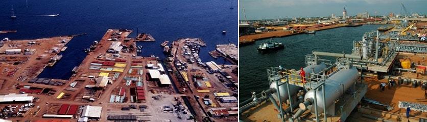Muelles en la Costa Oriental del Lago de Maracaibo