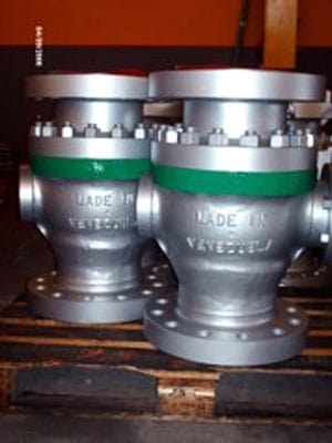 Válvulas fabricadas por empresas venezolanas